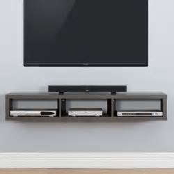 60 quot shallow wall mounted tv component shelf wayfair