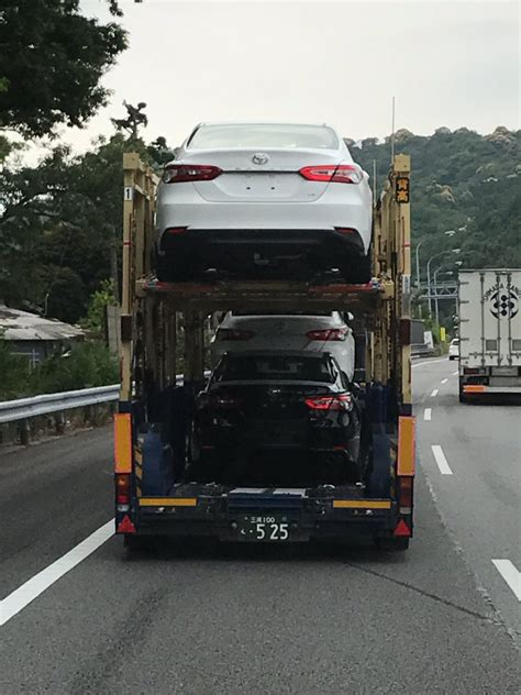 camry 2018 japan 2018 toyota camry spotted in a transporter in japan
