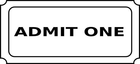 admit one ticket template free clipart best