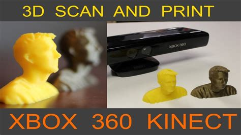 3d kinect scan and 3d print yourself xbox kinect