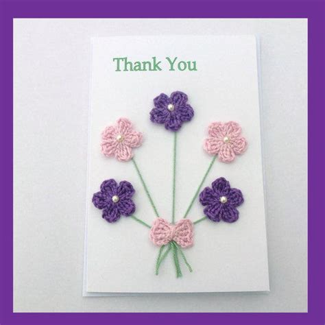 Thank You Handmade Cards - handmade thank you card from myfanwysmakes on etsy handmade
