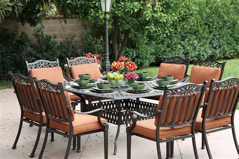 patio furniture charleston sc patio furniture dining set cast aluminum 64 quot square table