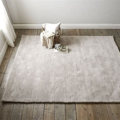 silver tufted wool rug goodglance