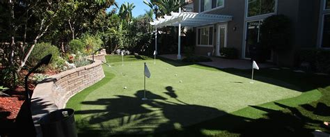 convenient backyard putting green