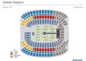 gillette stadium seating charts