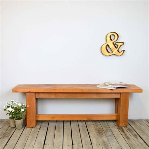 chunky solid wood bench by the orchard furniture notonthehighstreet
