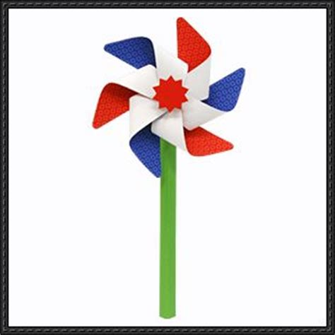 Windmill Papercraft - canon papercraft windmill free template