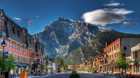 small town under the mountain wallpaper 20635