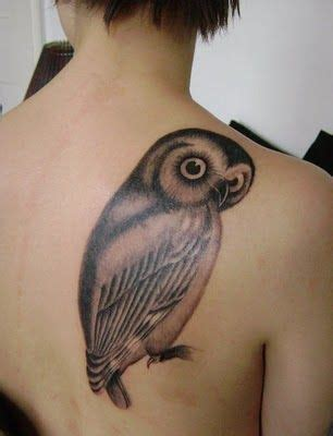 owl tattoo upper back upper back owl tattoo design of tattoosdesign of tattoos