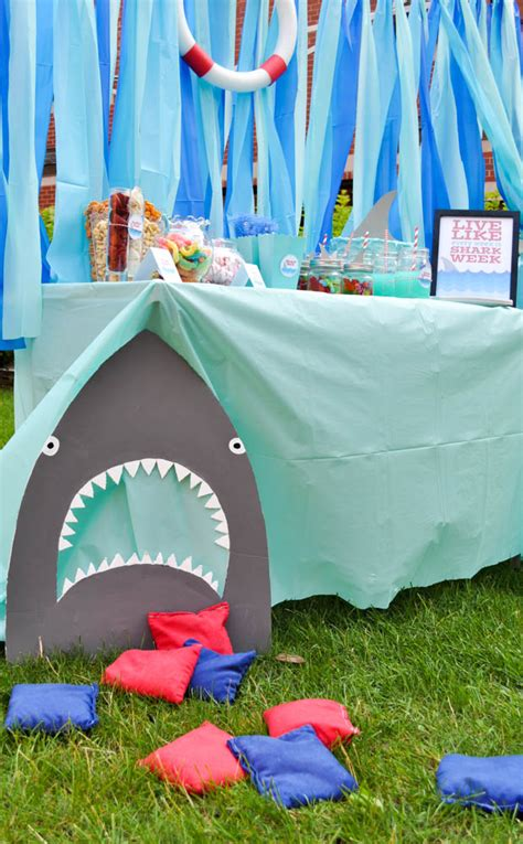baby shark themed party shark party ideas the love nerds