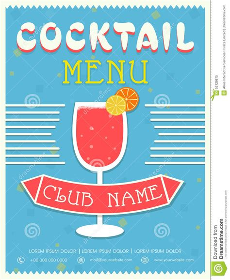 cocktail cards template cocktail card template vector illustration cartoondealer