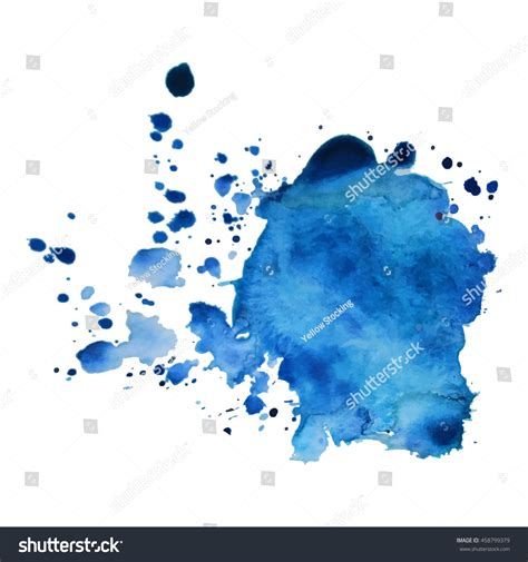 expressive abstract expressive abstract watercolor stain with splashes and