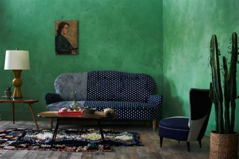green painted walls szmaragdowe wn苹trza fashionable lifestylowy