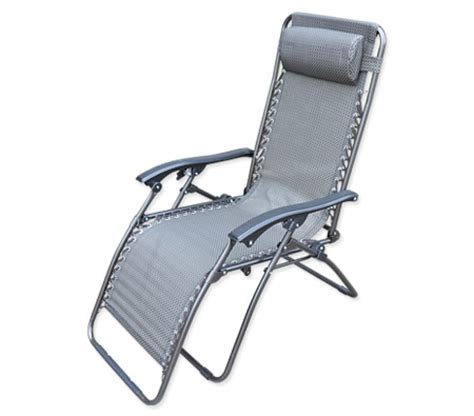 reclining sun chair reclining sun bed beach chair with padded head rest grey