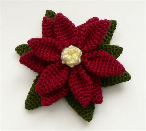 Pattern Crochet Poinsettia | christmas poinsettias to crochet free patterns