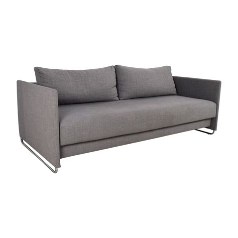 Gray Sofa Sleeper 50 Cb2 Cb2 Tandom Grey Sleeper Sofa Sofas