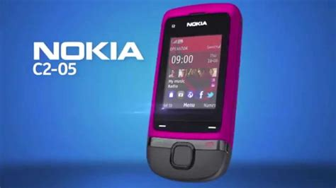 themes nokia c2 slide nokia c2 05 slide phone youtube
