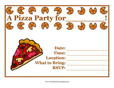 free printable pizza invitation template affordable neabux