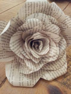 How To Make Paper Flowers From Book Pages - book page roses on book page wreath book page