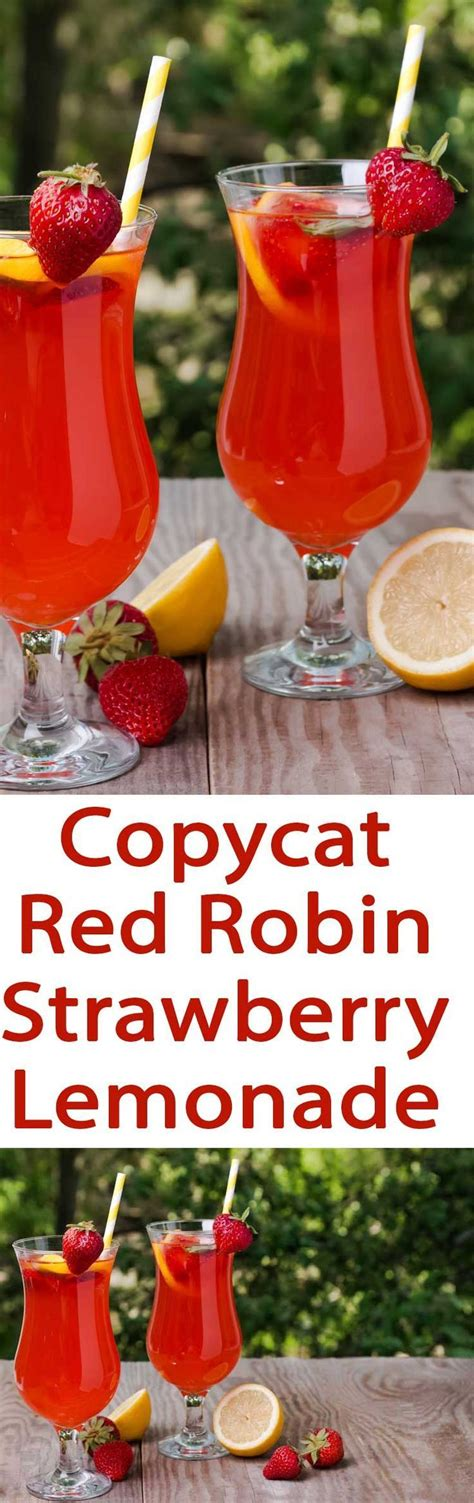 red drink copycat red robin strawberry lemonade recipe