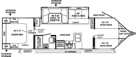 travel trailer bunkhouse floor plans travel trailer bunk house 30wtbs 22 336 i really like