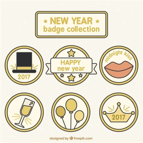 new year colors to avoid new year labels in pastel colors vector free