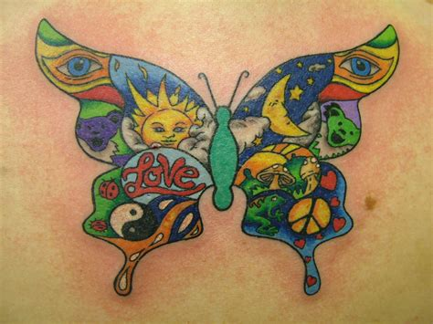 colorful tattoo ideas hippie images designs