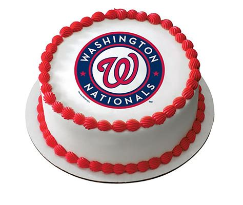 mlb washington nationals baseball team logo edible image