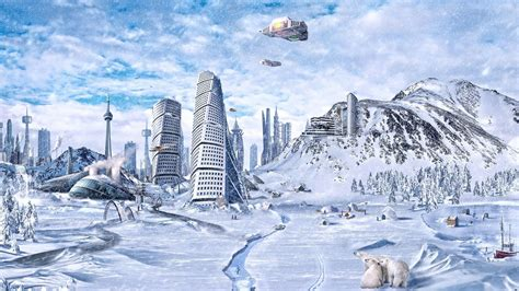 ice city 3d landscape beautiful 3d winter fantasy picture nr 60689