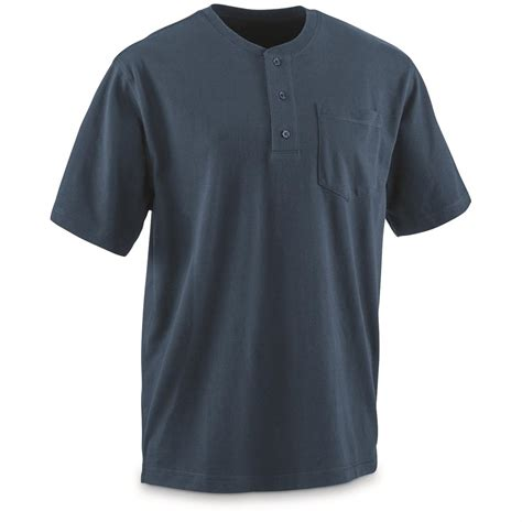 Gear Teflon guide gear s stain kicker henley pocket t shirt with teflon 678519 t shirts at sportsman