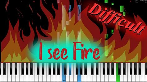 tutorial piano i see fire how to play ed sheeran i see fire on piano tutorial