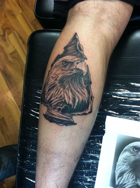arrowhead tattoos eagle and arrowhead tattoos