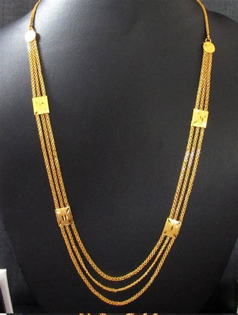 Line Gold Necklace buy golden three line necklace