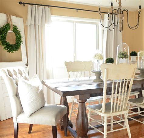 Farmhouse Dining Room Modern Farmhouse Dining Room Makeover Vintage Nest