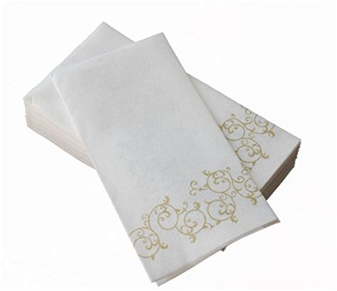 disposable guest towels for bathroom simulinen hand towels decorative gold floral durable