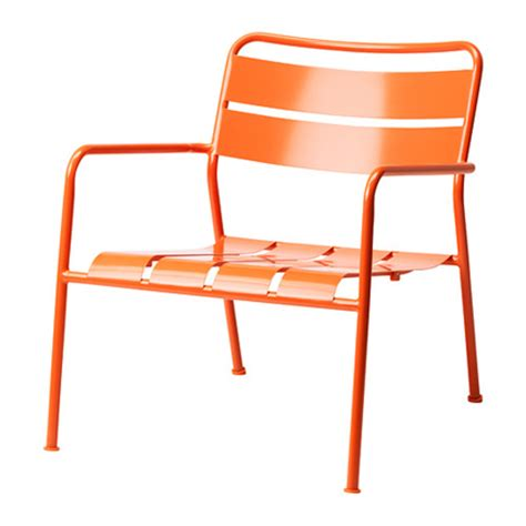 ikea garden chairs cheap ikea modern orange metal outdoor arm chair home decor