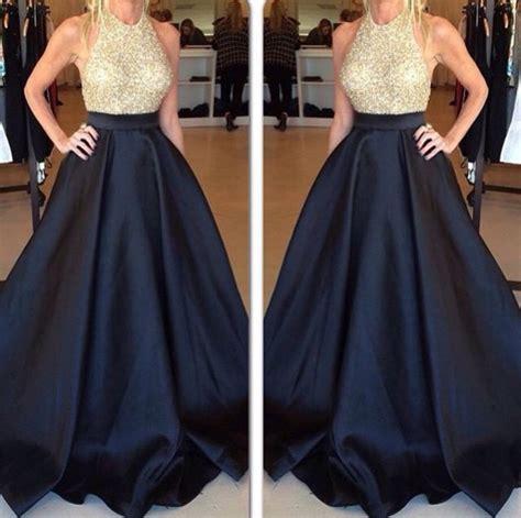 Floor Pln by Designer Prom Dress Halter Prom Dresses Beaded Evening