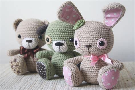 pattern amigurumi pattern amigurumi cuties bunny puppy and teddy crochet