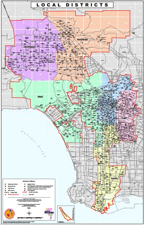 Lausd School Finder By Address Los Angeles Unified School District Map Indiana Map