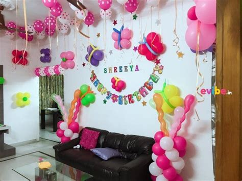 Balloon Decoration For Birthday At Home Beautiful Home Balloon Decoration Birthday Simple Balloon Decorations In Hyderabad Evibe In