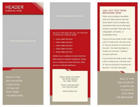wonderful of blank tri fold brochure template word vector sample