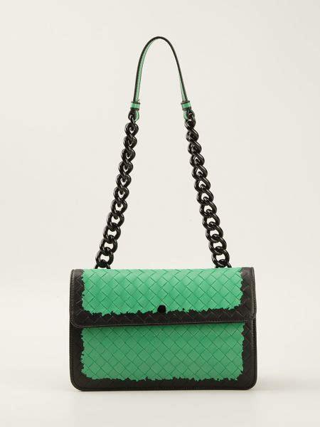 Bottega Venetta Green bottega veneta intrecciato glass shoulder bag in green lyst