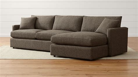 Crate And Barrel Lounge by Lounge Ii Shallow Sectional Sofa Crate And Barrel