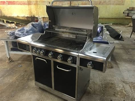 kenmore 5 burner gas grill with ceramic searing and rotisserie burners outdoor kenmore 5 burner gas grill with ceramic searing and rotisserie burners great home
