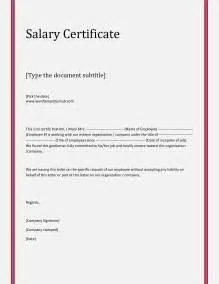 Salary Certificate Letter letter for certificate of employment nurses cover letter templates
