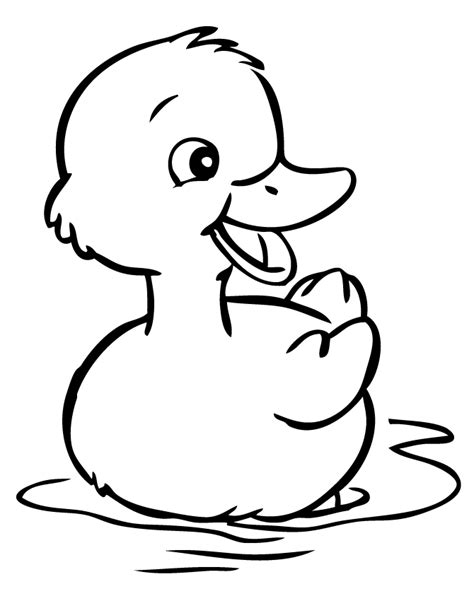 Duck Coloring Pages Rubber Duck Coloring Pages