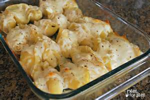 chicken alfredo stuffed shells mess for less