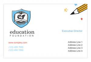 education business cards education foundation print template pack from serif
