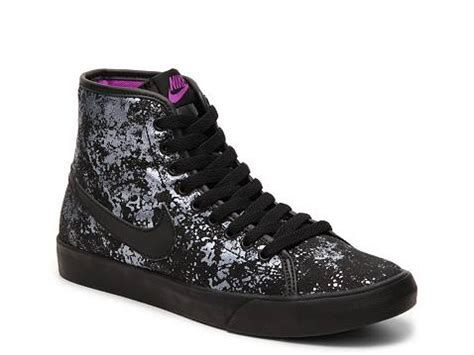 nike primo court metallic canvas high top sneaker womens