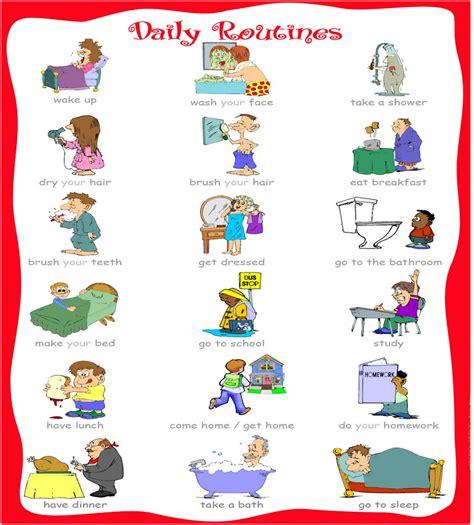 Imagenes Rutinas Diarias En Ingles | nodo comunicaci 211 n rutinas vocabulario